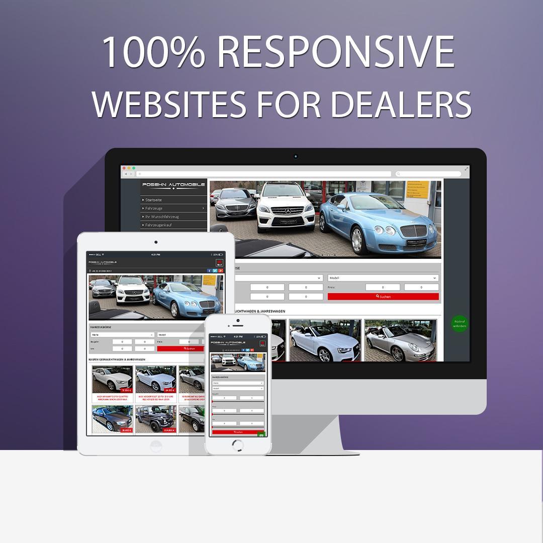 100% ansprechende Webseiten für Autohändler