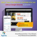 Täglich mehr als 500 Besucher auf ihrer Webseite – ohne Google-Adwords ist dies möglich!