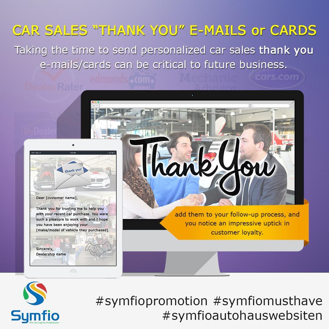 """""""Dankeschön""""- Emails oder –karten beim Autoverkauf"""