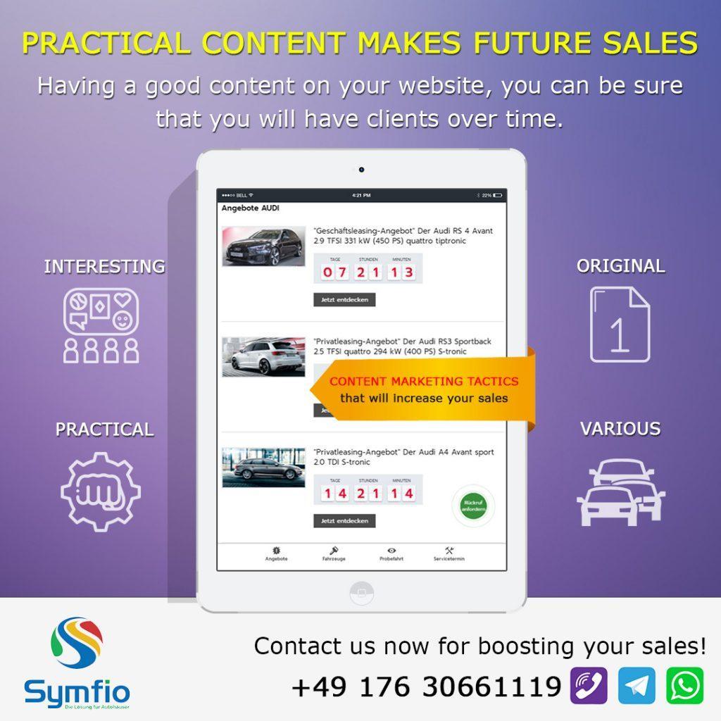 Praktischer Inhalt Macht Künftigen Verkauf