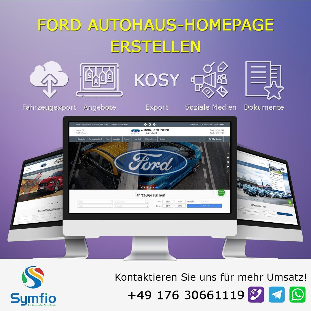 Ford Autohaus-Homepage Erstellen