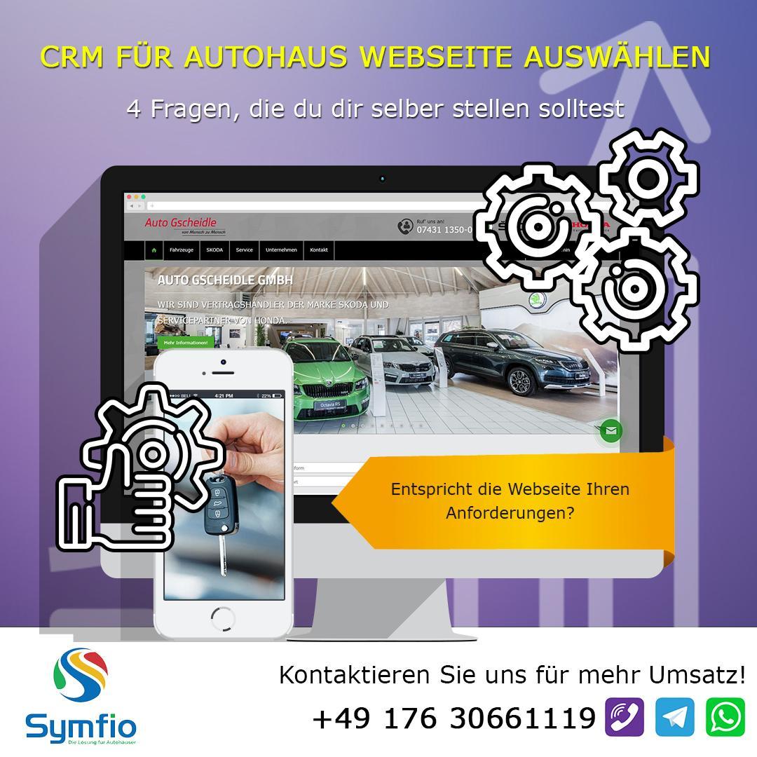 CRM Für Autohaus Webseite auswählen