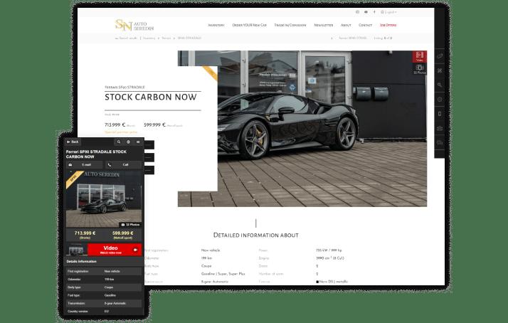 Autohaus Website für Luxushändler
