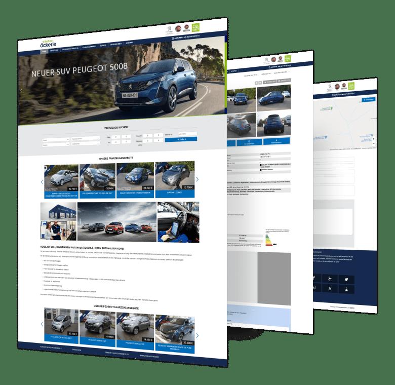 Markenhändler Websites | Autohaus Äckerle | Vertrags- und Servicepartner für Peugeot und Fiat – Stuttgart
