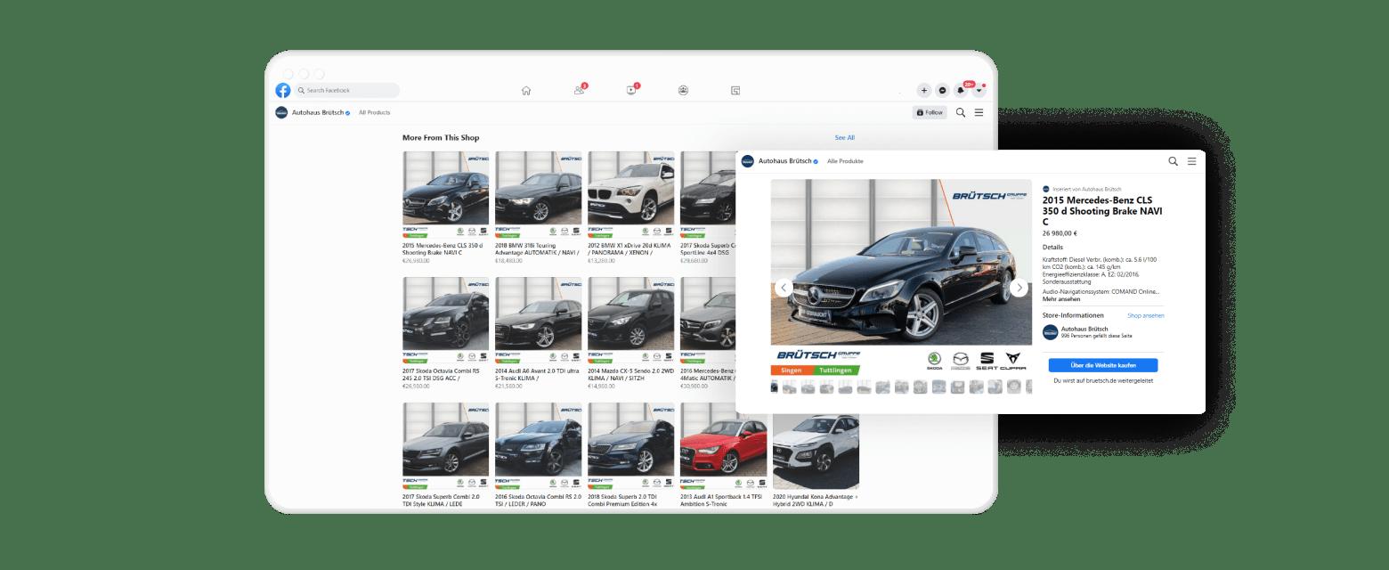 Facebook Marketplace   Social Media Marketing für Autohaus