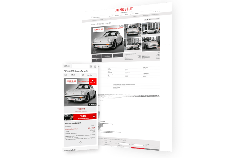 Jungblut Sportwagen - Ankauf und Verkauf von Porsche Gebrauchtwagen weltweit