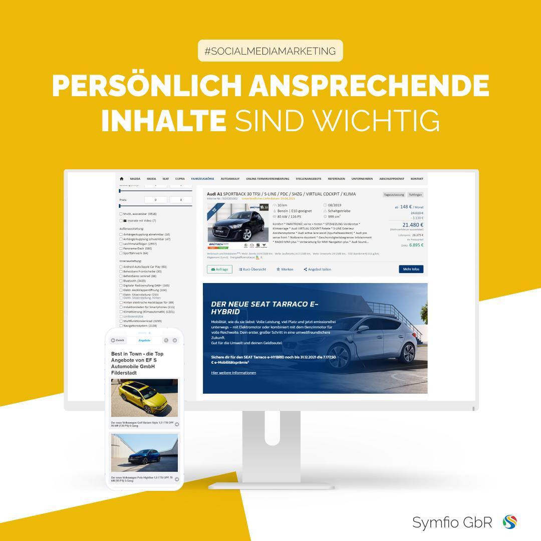 Persönlich ansprechende Inhalte | Symfio - Autohändler-Management-System