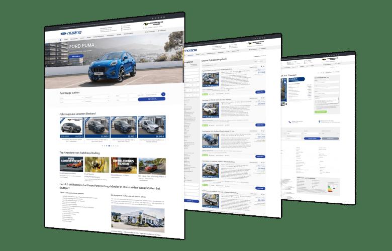 Autohaus Nuding - Symfio - Homepage für Ford Autohaus erstellen