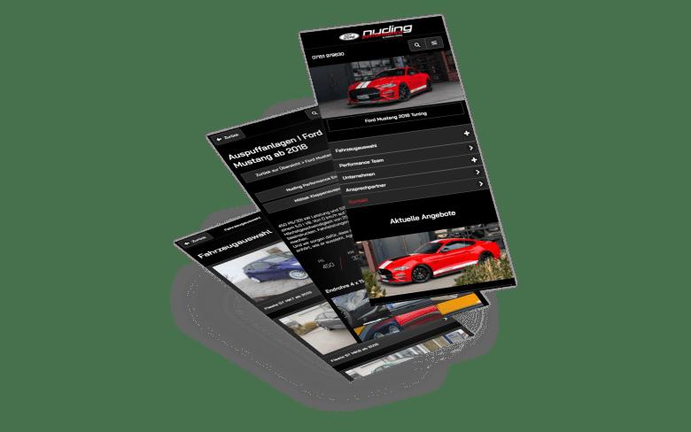 Symfio Webite für Nuding Performance - Ford Tuning mit Qualität bei Stuttgart
