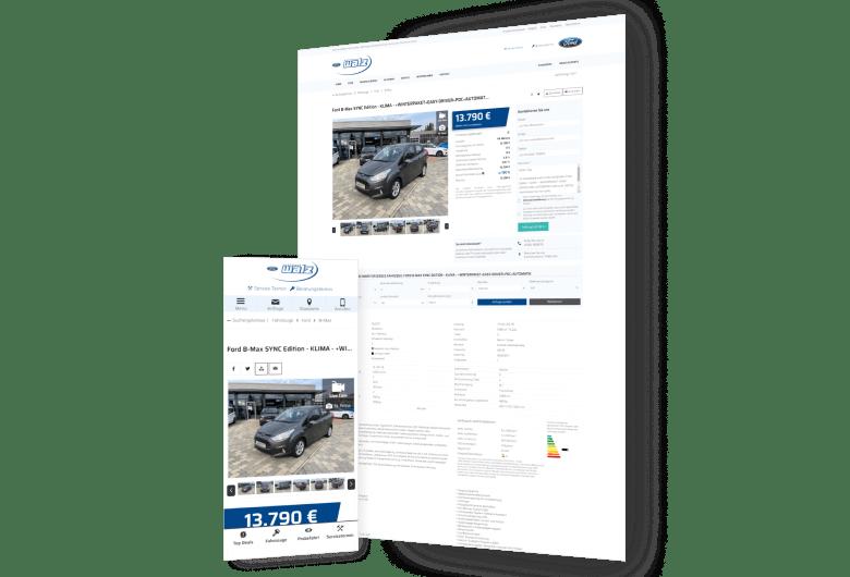 Homepage für Autohaus Ford-Händler Autohaus Walz erstellen