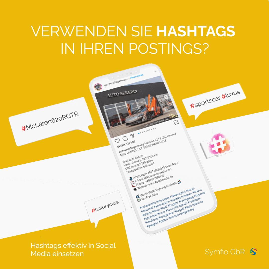 Hashtags in Ihren Postings verwenden | Symfio - Webdesign-Agentur für Autohäuser
