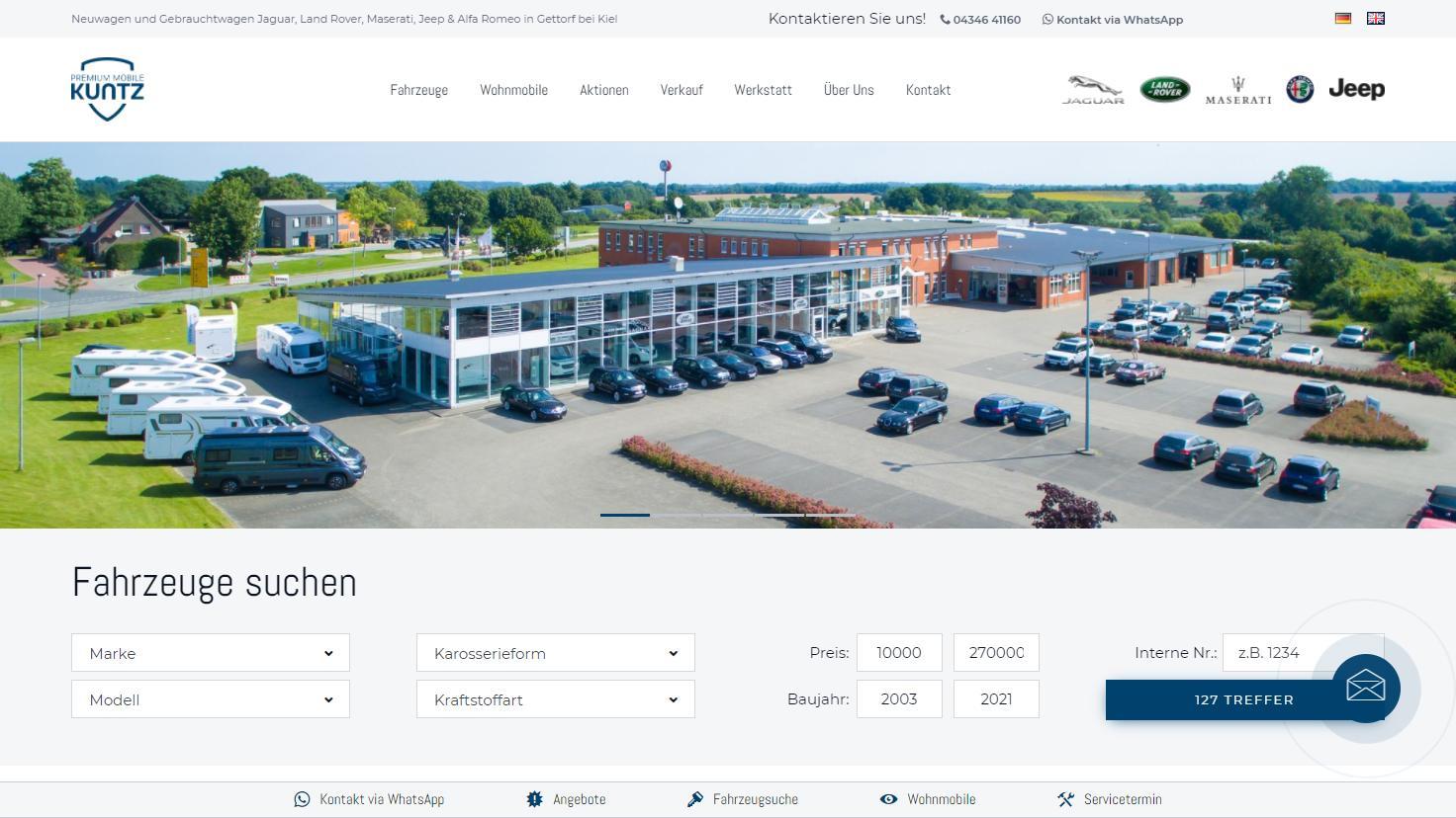 Premium Mobile Kuntz - Vertragshändler für Offroad- und Geländewagen sowie sportliche Fahrzeuge und Reisemobile