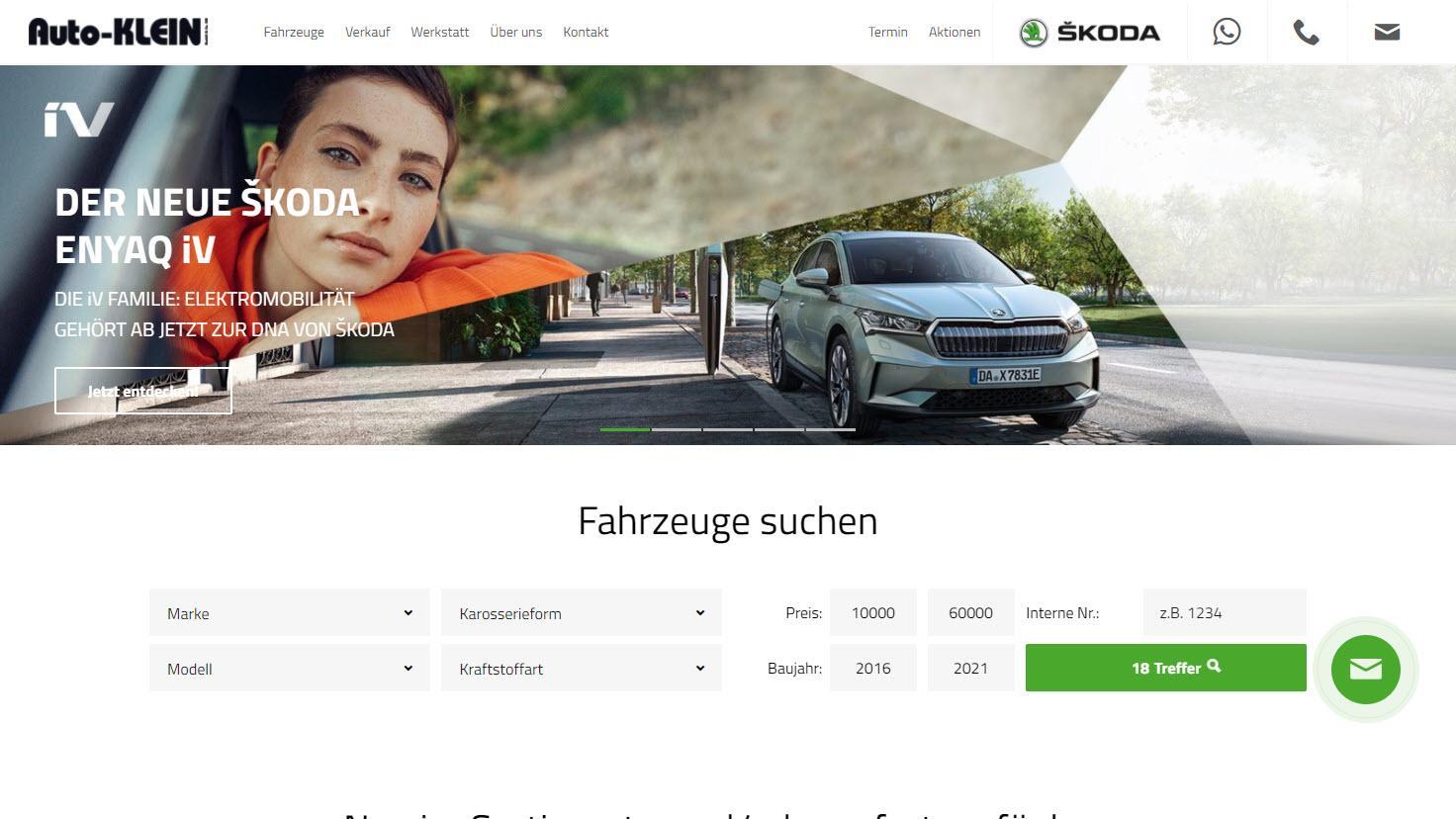 Auto Klein - ŠKODA Vertragshändler und ŠKODA-Experte in Stuttgart