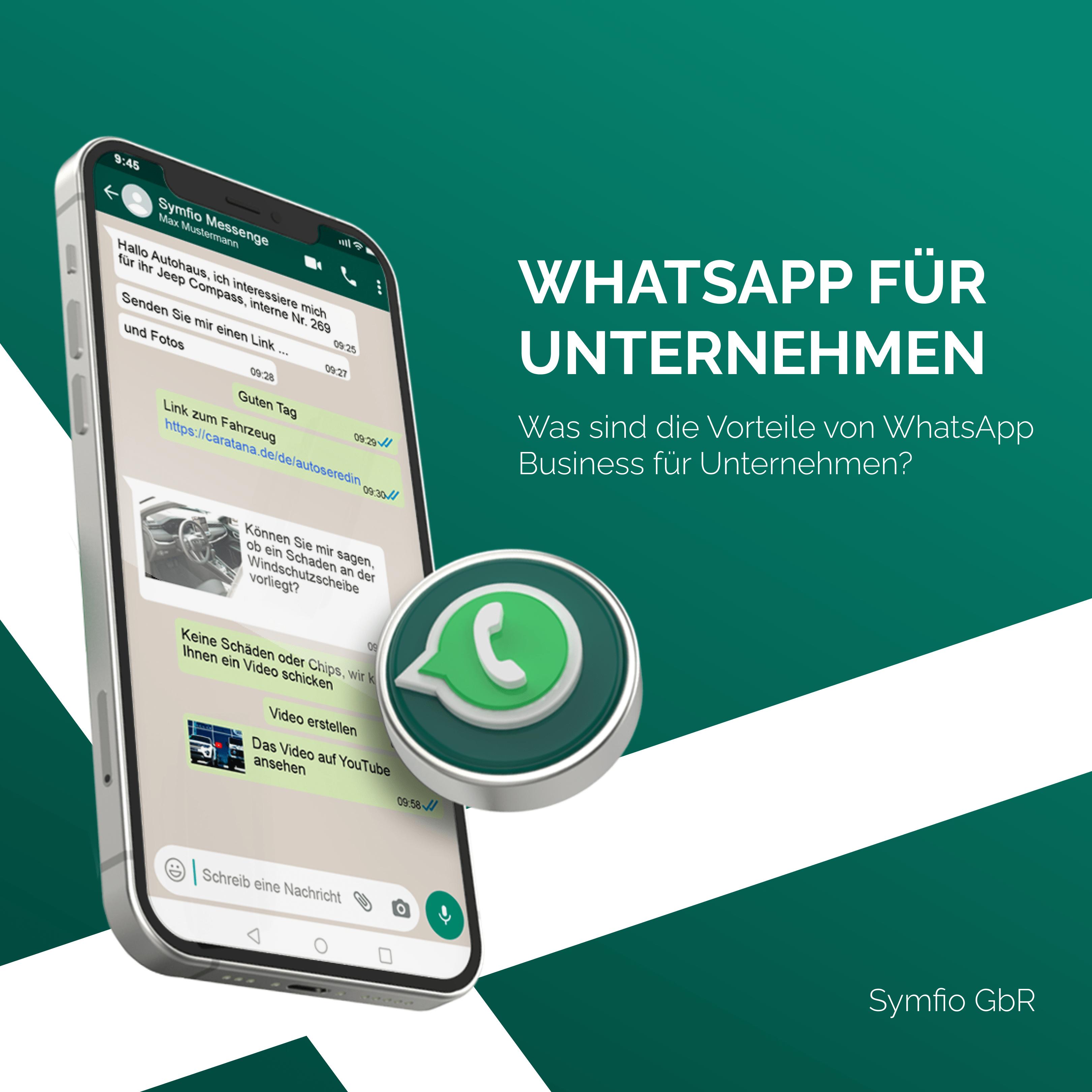 Whatsapp Business - online Marketing für Autohändler